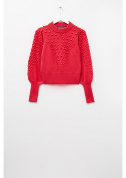 Cropped Bobble Knit Sweater