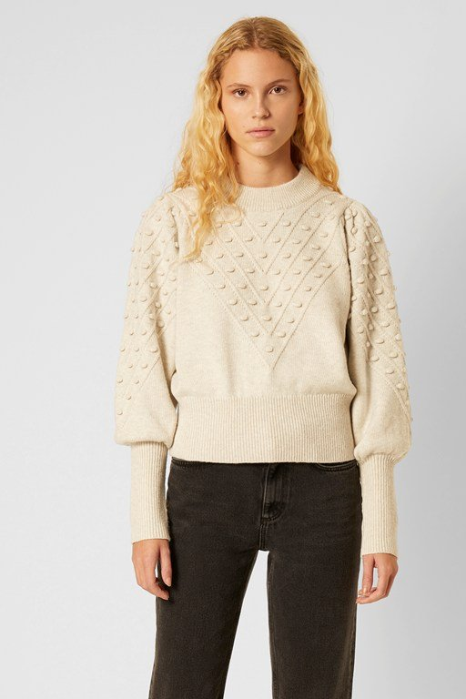 Complete the Look Cropped Bobble Knit Sweater