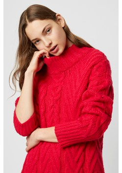 Nissa Chunky Cable Mock Neck Jumper