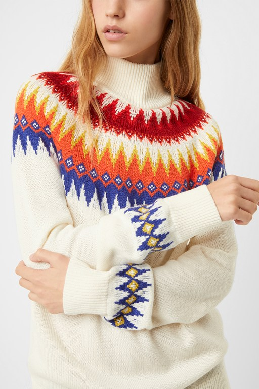 high neck fairisle sweater