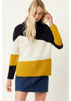 Patchwork Roll Neck Sweater