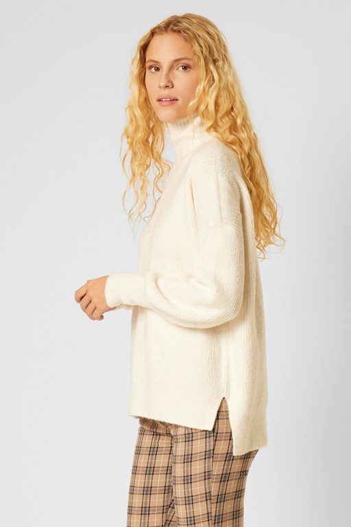 flossy balloon sleeve sweater