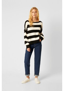 Mozart Stripe Slash Neck Sweater