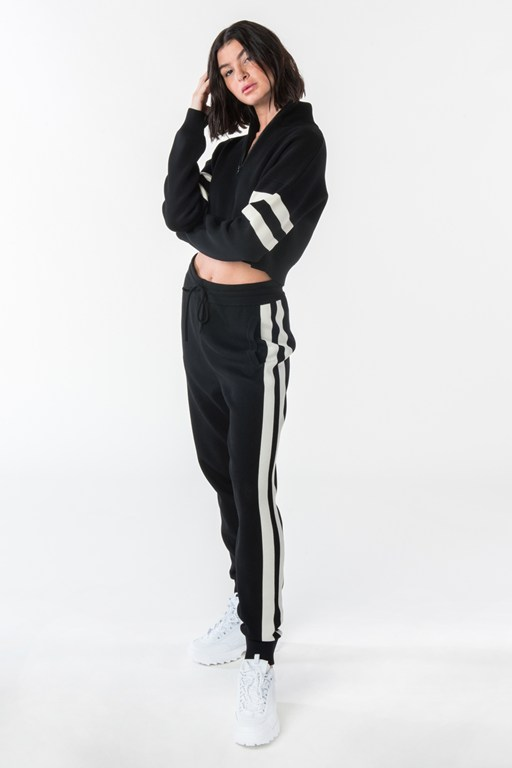 fcuk cropped knit zip up