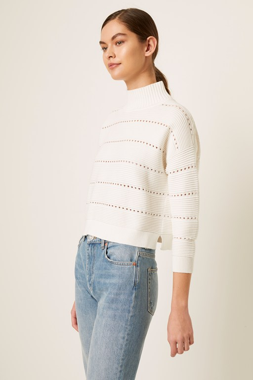 lilya mozart knits lace cropped sweater