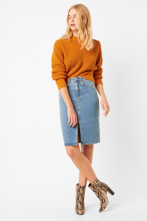 Complete the Look Luna Mozart Waffle Knit Cropped Sweater