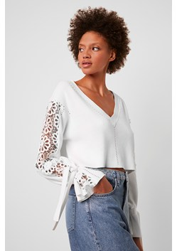 Leona Crop Lace Mix Sweater