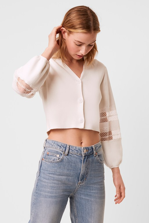 kaya lace cropped cardigan
