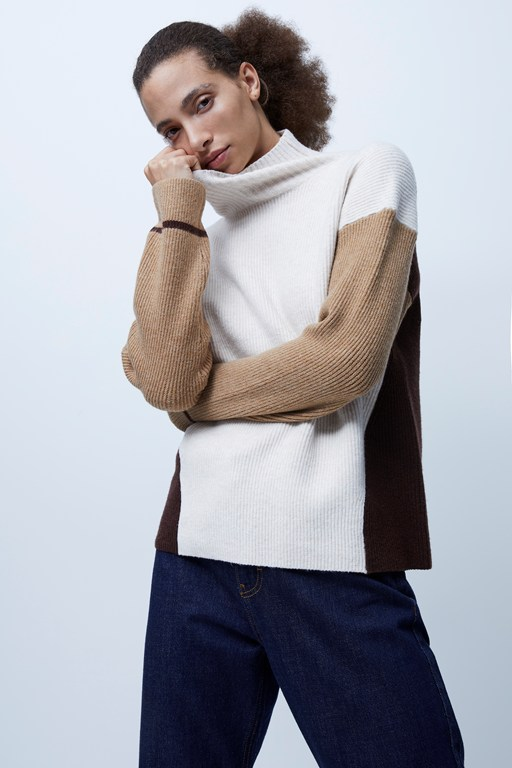 jasper vhari colorblock knits sweater