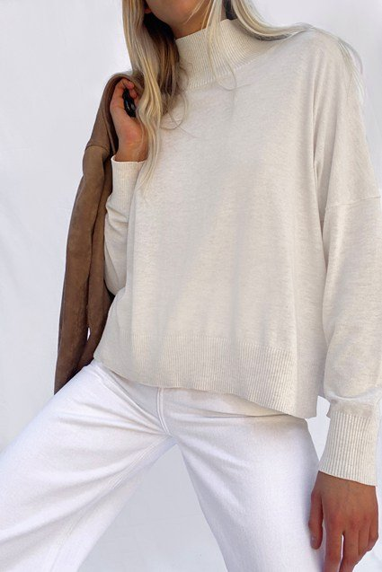 KLARISE RECYCLED HIGH NECK JUMPER