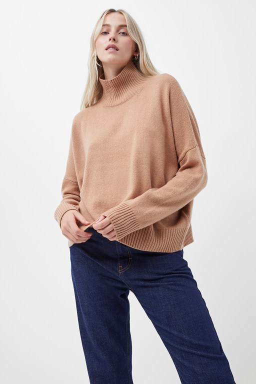 cashmere blend longsleeve high neck sweater