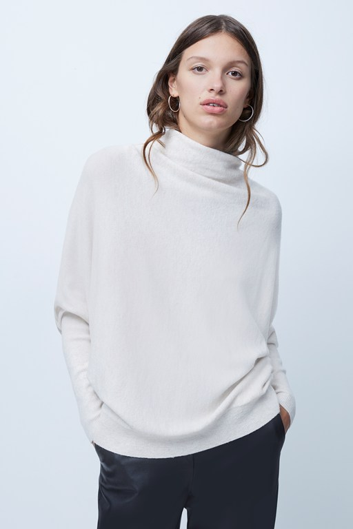 marie vhari balloon sleeve sweater