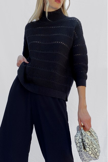 LILIYA KNIT LACE HOLE JUMPER