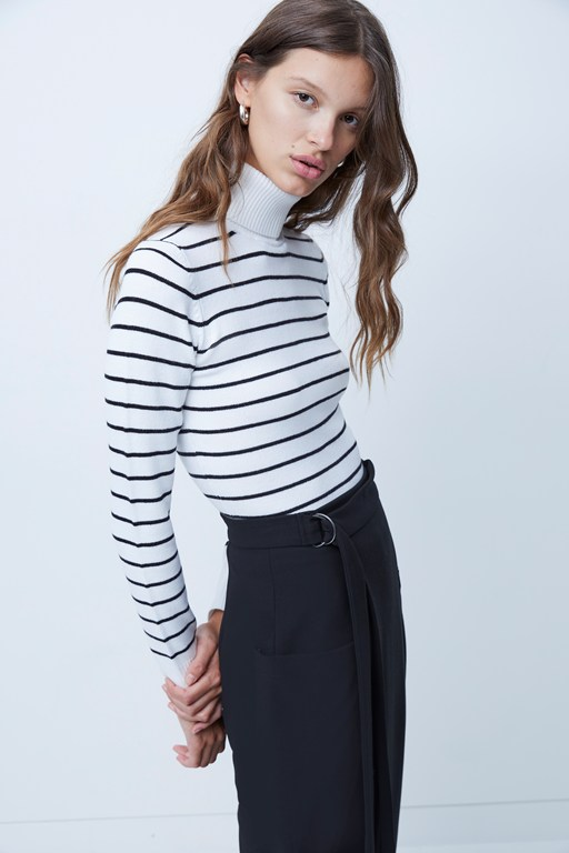 babysoft turtleneck striped sweater