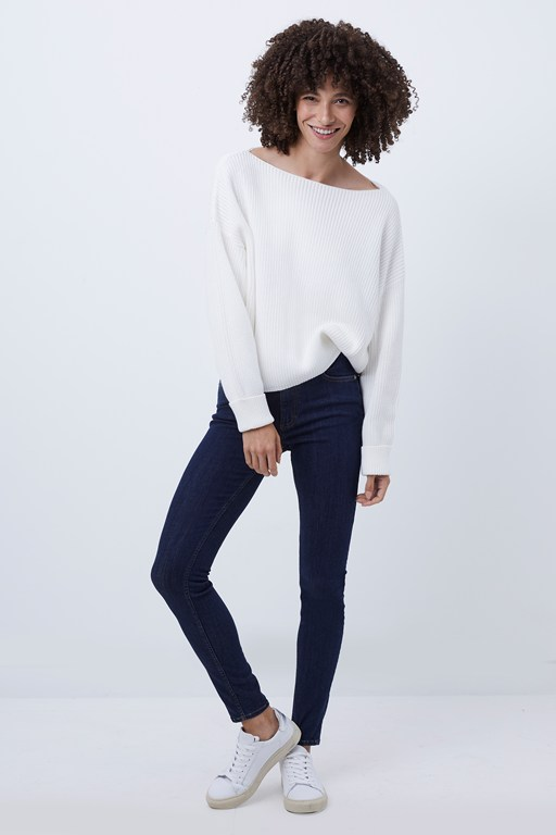 millie mozart slash neck jumper