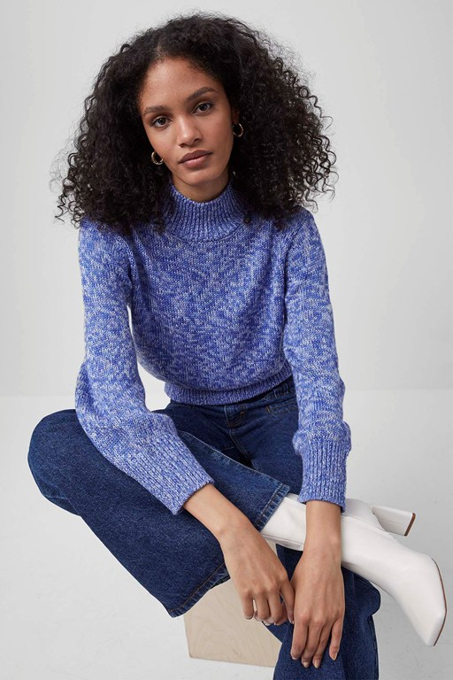 lora mock neck sweater