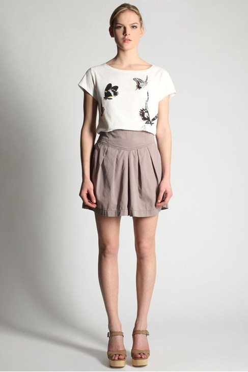 KITTY COTTON FLARED SHORTS