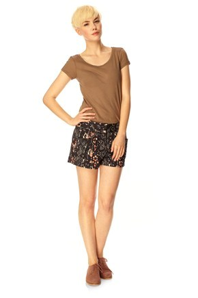 RAQUELLA COTTON MINI SHORTS