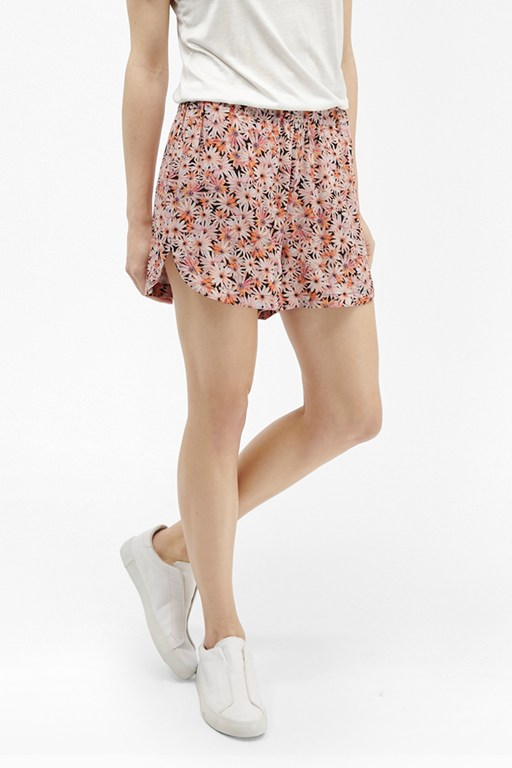 Complete the Look Bacongo Daisy Printed Shorts