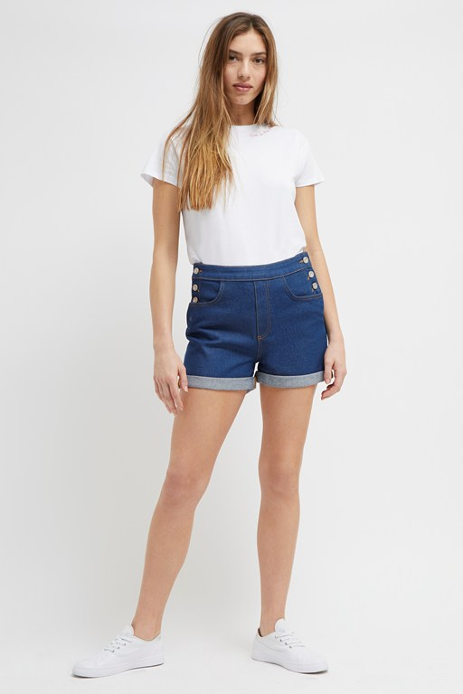 orlina high waisted denim shorts