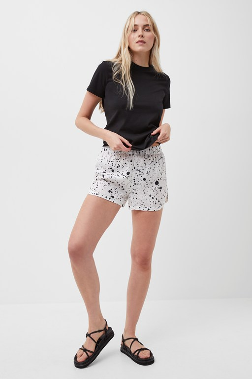droplet drape shorts