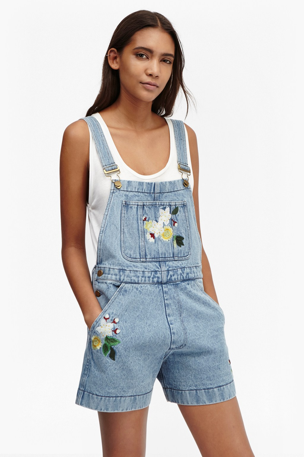 Dionne Denim Dungaree Shorts