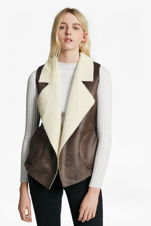 Complete the Look Winter Rhoda Reversible Borg Gilet