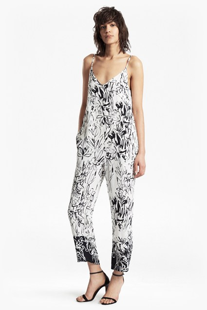 Copley Crepe Printed Strappy Jumpsuit