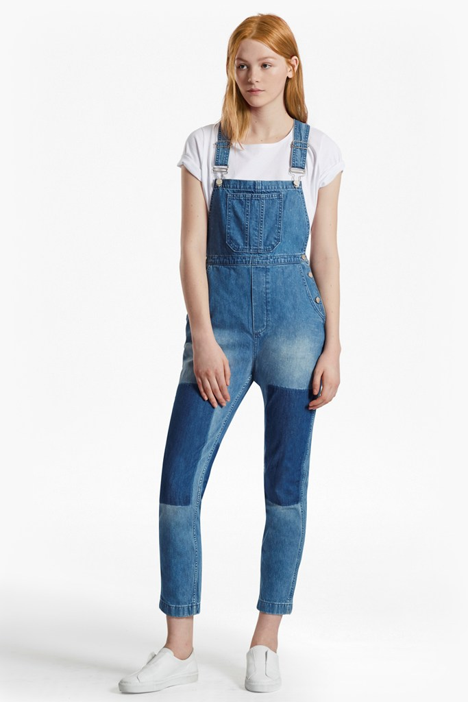 french connection female blue shadow dungarees