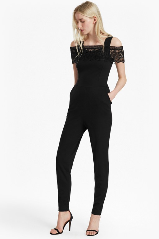 petra lace beau cold shoulder jumpsuit
