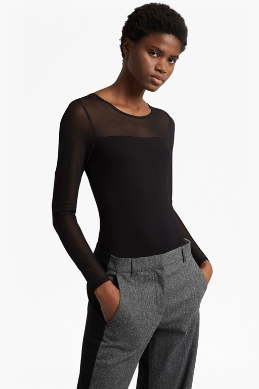Complete the Look Allie Long Mesh Sleeved Bodysuit