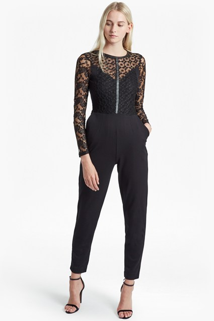 Hannah Beau Long Sleeved Jumpsuit