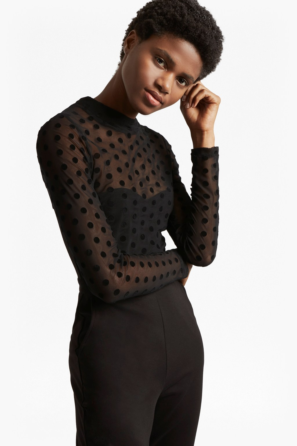 837a132eea1 Lea Mesh Jersey High Neck Jumpsuit | Collections | French Connection Usa