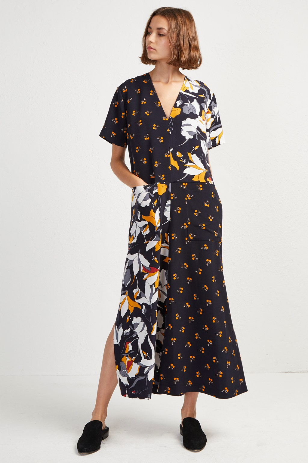 Aventine drape jumpsuit spring floral dresses french connection usa mightylinksfo