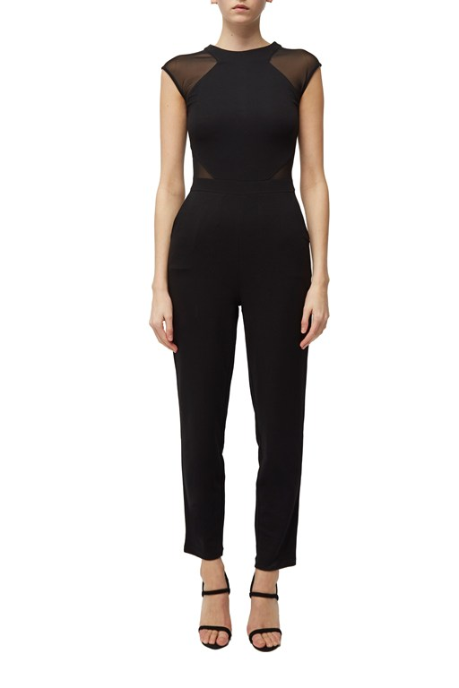 viven mesh panel jumpsuit