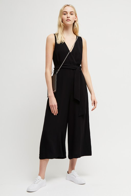 bessie crepe sleeveless jumpsuit