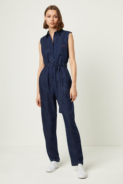 Maggia Light Sleeveless Denim Jumpsuit