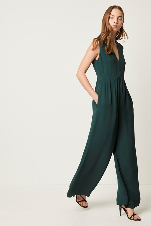 carrabelle crepe pleated jumpsuit