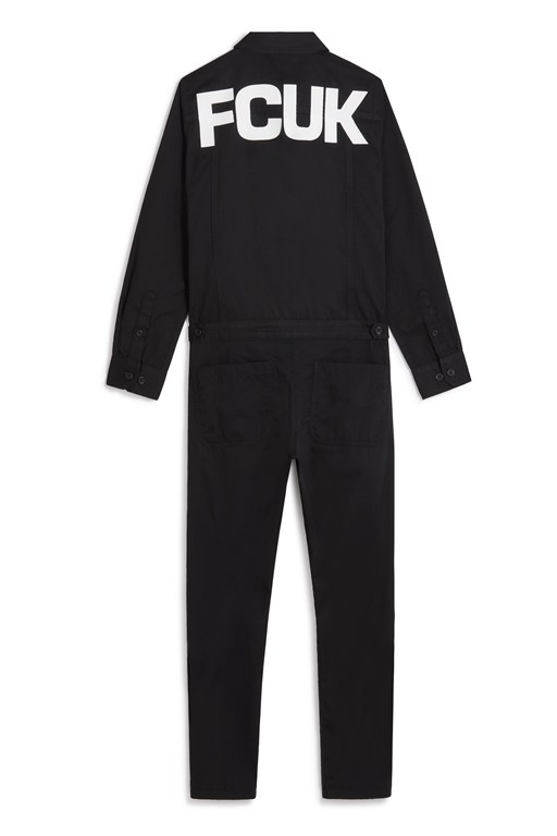 fcuk long sleeve jumpsuit