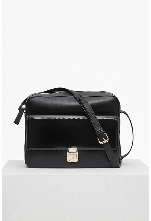 Clean Caroli Faux Leather Crossbody Bag