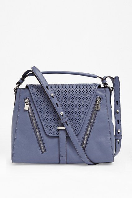 Zoe Leather Structured Satchel