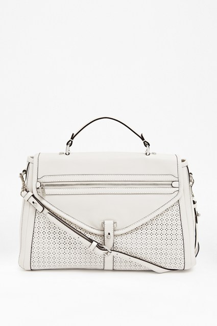 Carla Structured Leather Satchel