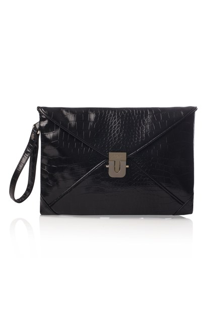Snake Chain Envelope Clutch