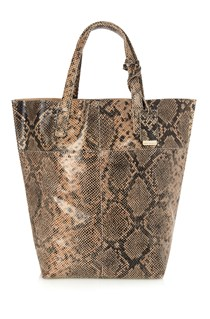Snake Raw Leather Shopper