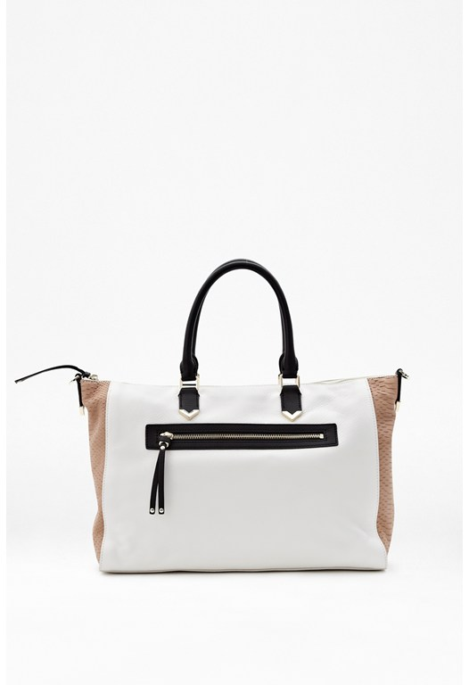 Colour Block Leather Bag