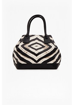 Zahara Faux Leather Printed Tote