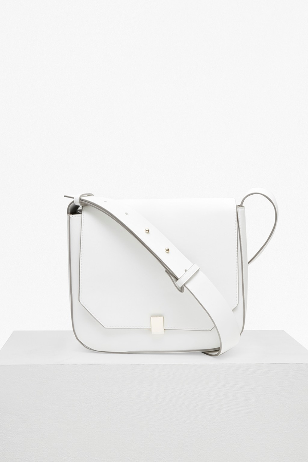 french connection female core faux leather cross body bag
