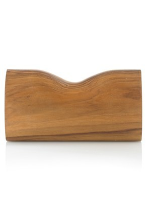 SHAPED WOODEN CLUTCH