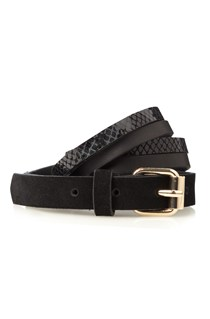 Colour Block Suede Belt