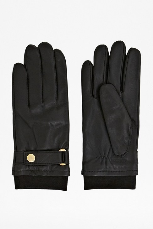 Gibson Buttoned Leather Gloves